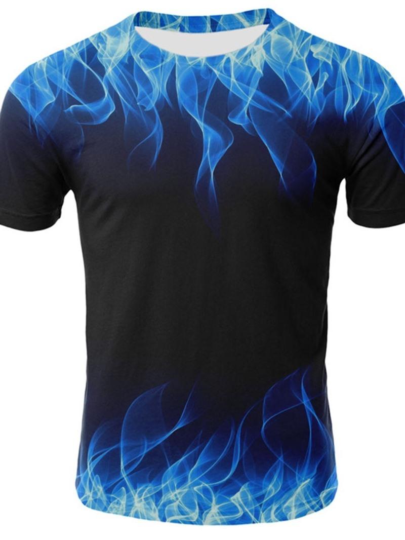 Ericdress Print Round Neck Loose Short Sleeve T-shirt