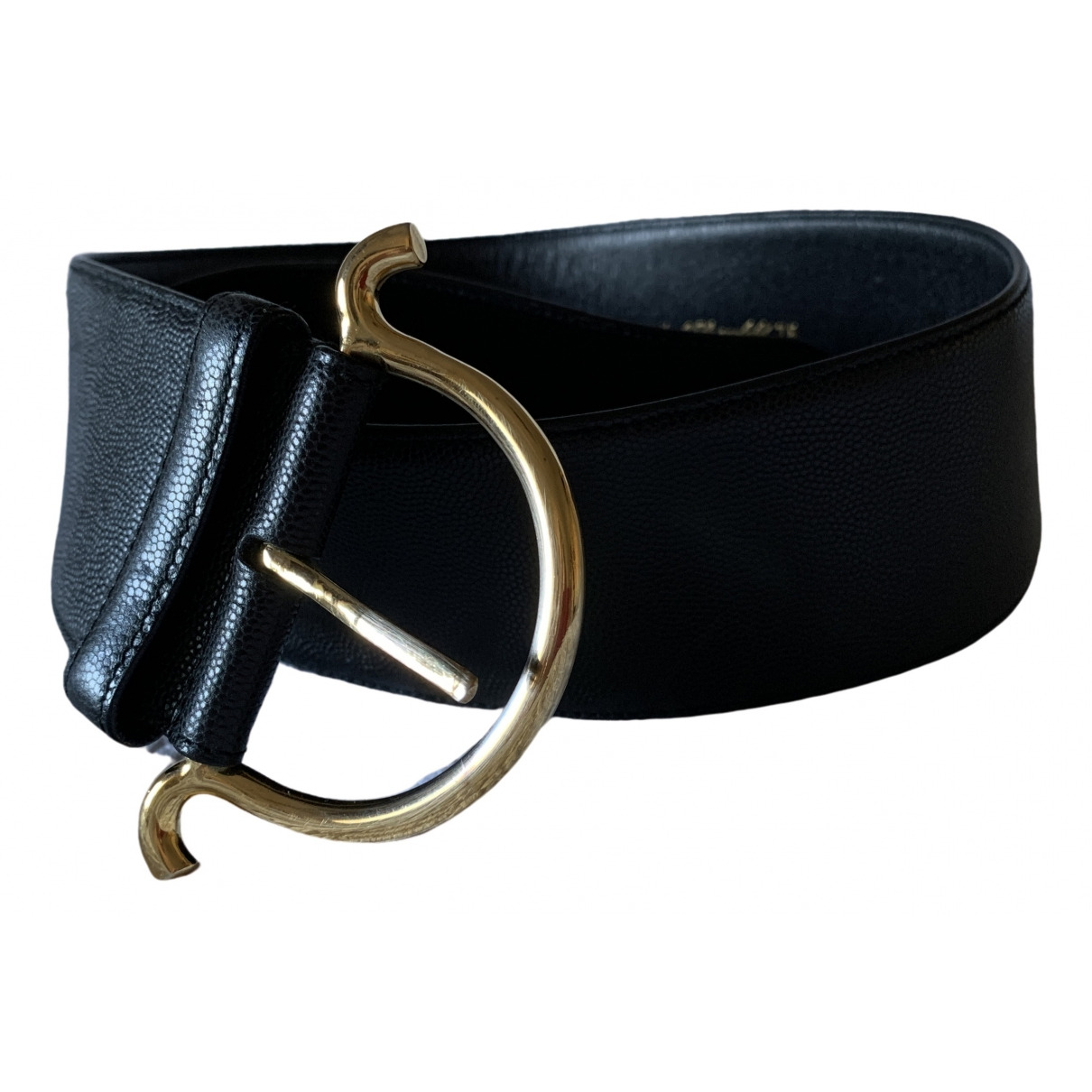 Karl Lagerfeld \N Black Leather belt for Women 75 cm