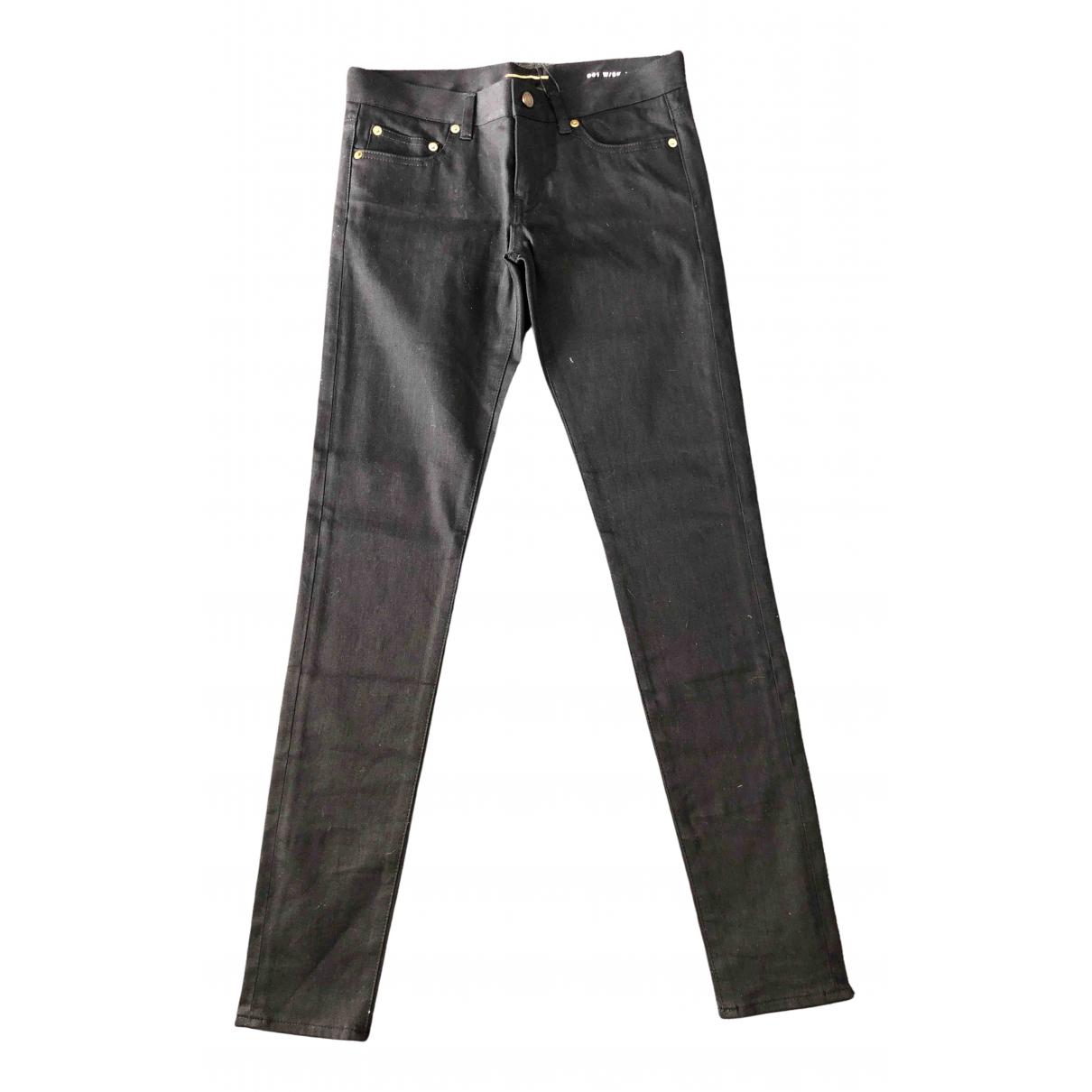 Saint Laurent \N Black Denim - Jeans Trousers for Women 38 FR