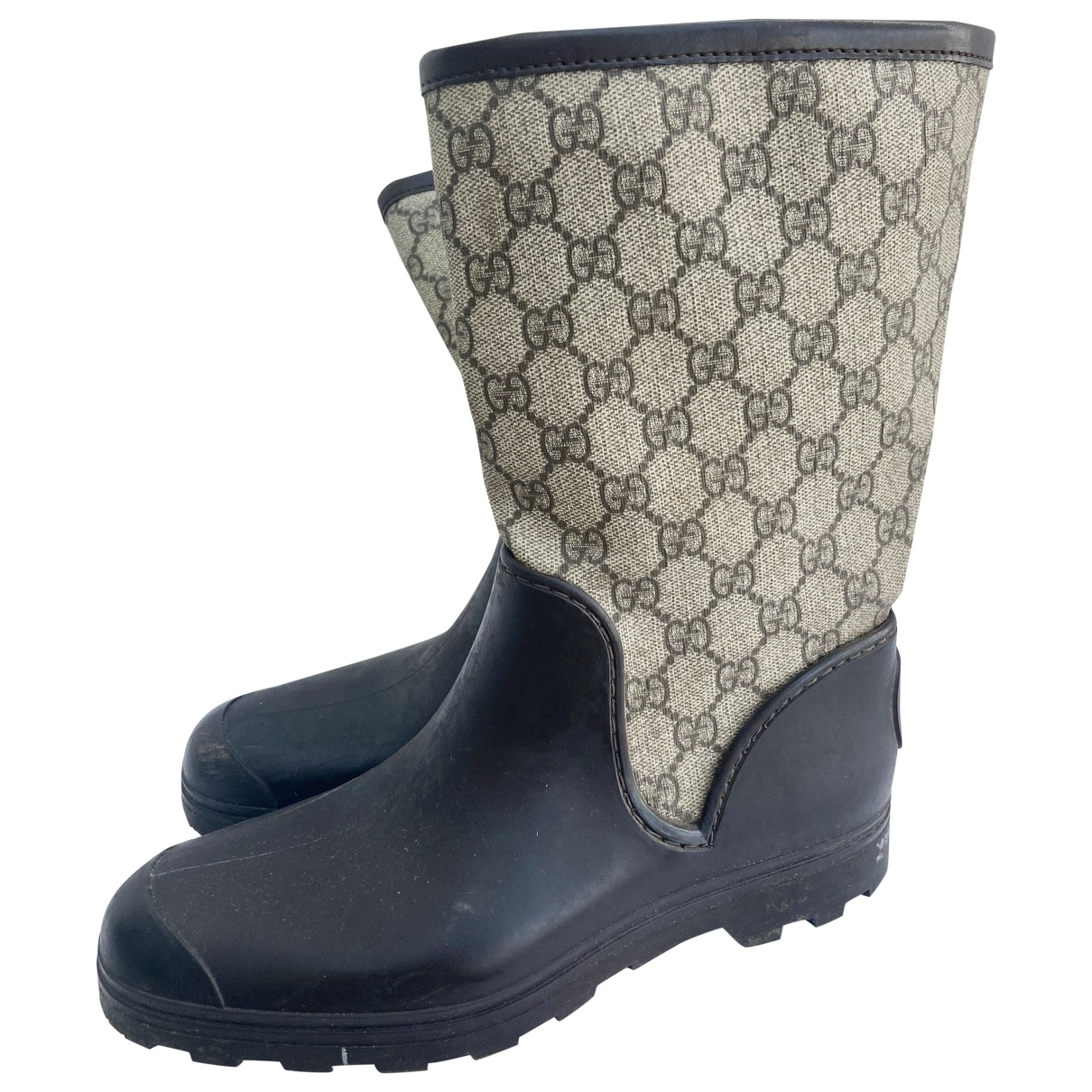 Gucci \N Brown Rubber Boots for Women 38 EU