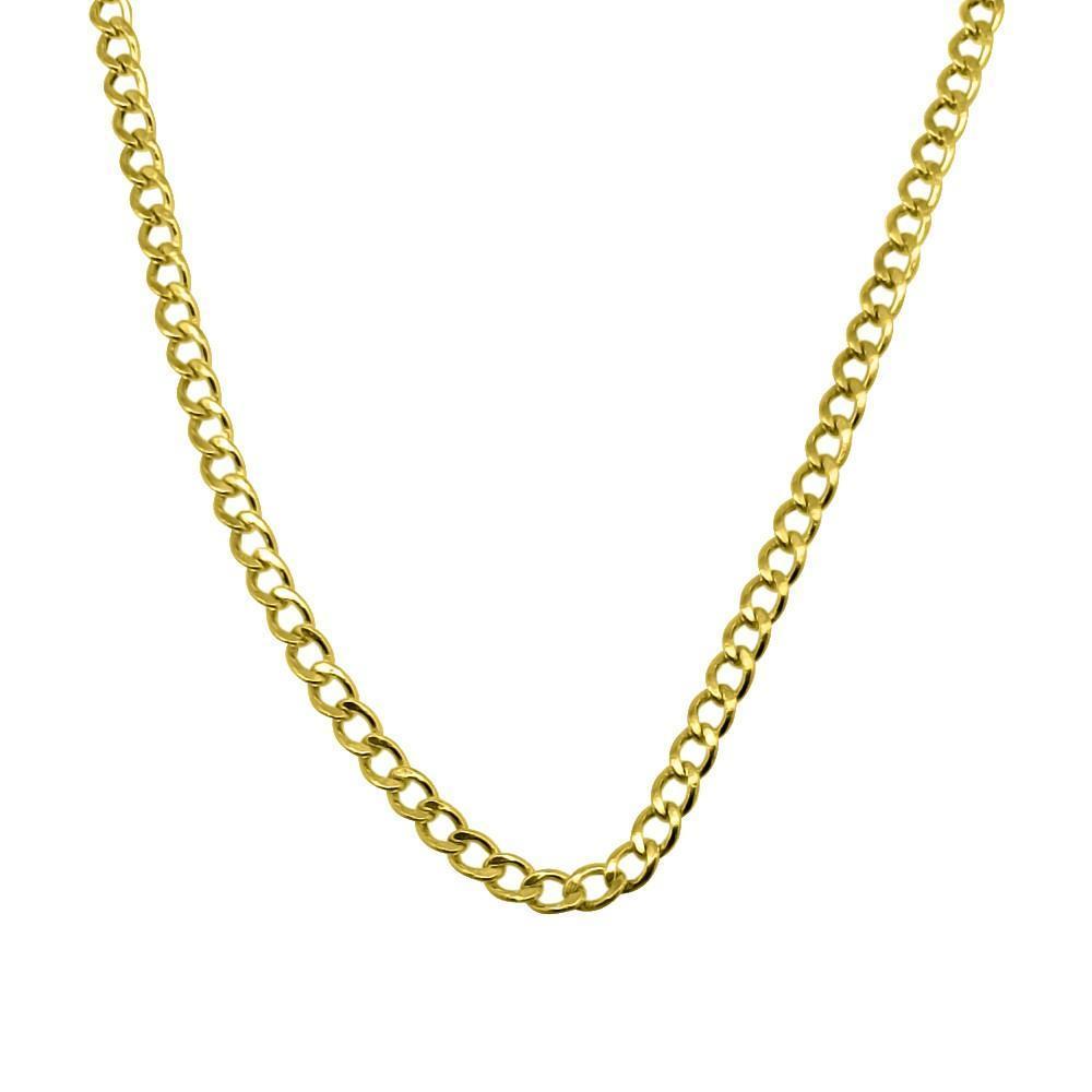 10K Yellow Gold 2MM Cuban Chain