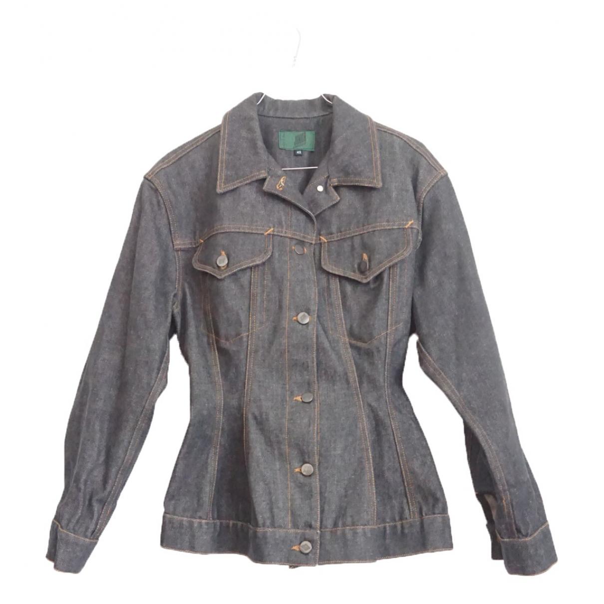 Jean Paul Gaultier \N Blue Denim - Jeans jacket for Women 42 IT