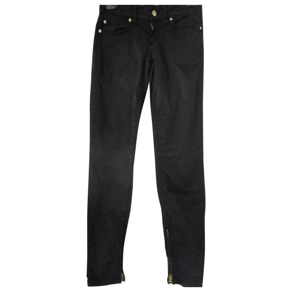 Liu.jo \N Black Cotton Trousers for Women 36 IT