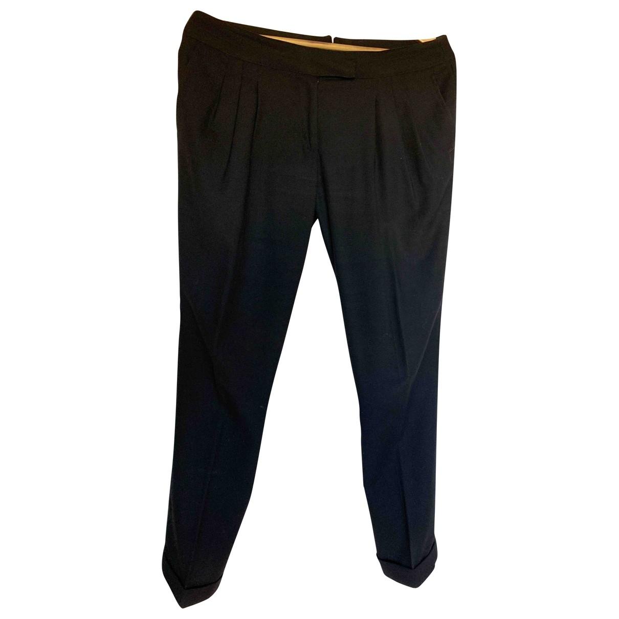 Hoss Intropia \N Black Cotton Trousers for Women 40 IT