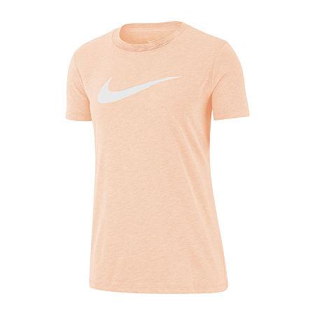 Nike Womens Crew Neck Short Sleeve Graphic T-Shirt, Xx-large , Orange