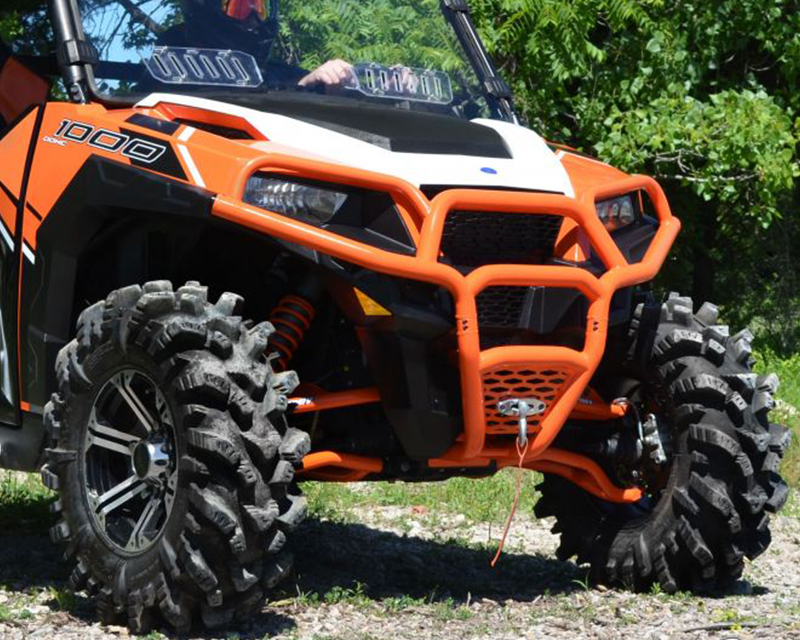 SuperATV FBG-P-GEN1K-04 Orange Front Brush Guard Polaris General 1000 16-17