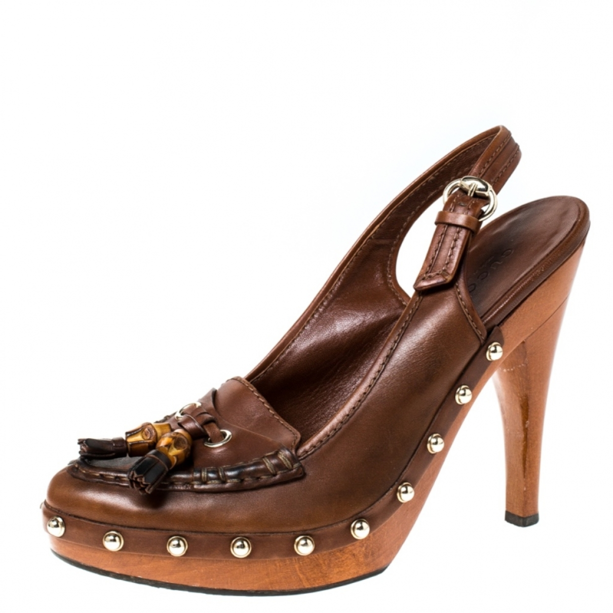 Gucci \N Brown Leather Sandals for Women 38.5 EU