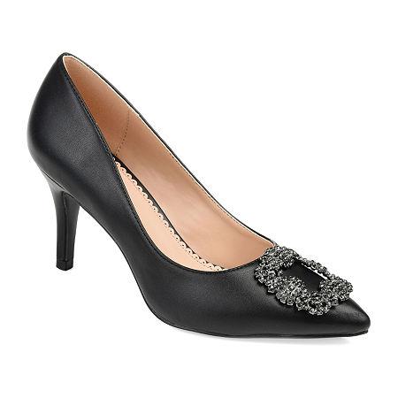 Journee Collection Womens Izzie Pumps Stiletto Heel, 5 1/2 Medium, Black