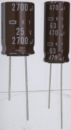 Nippon Chemi-Con 100μF Electrolytic Capacitor 10V dc, Through Hole - EKY-100ELL101ME11D (5)
