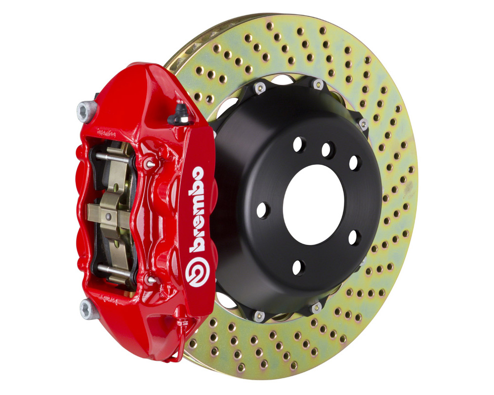 Brembo GT 380x28 2-Piece 4 Piston Red Drilled Rear Big Brake Kit