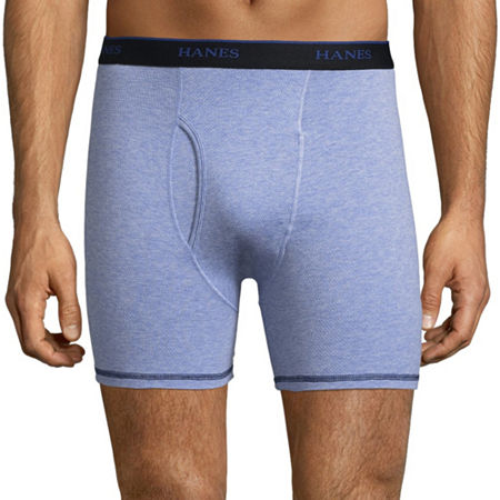 Hanes Cool Comfort 3 Pack Boxer Briefs, Medium , Blue