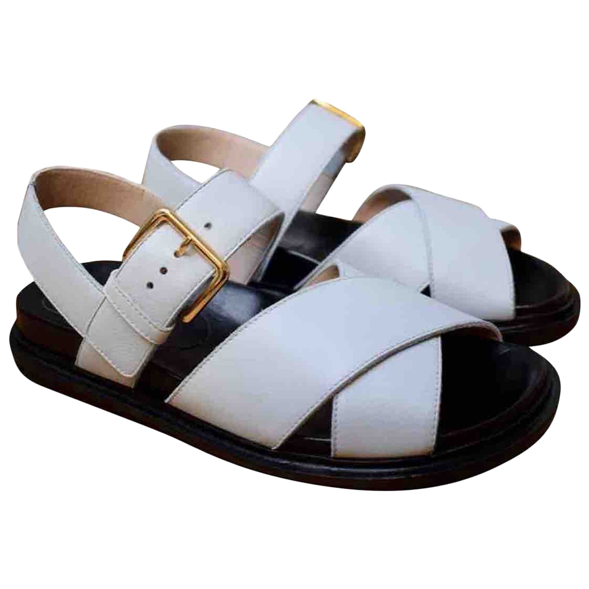 Marni \N White Leather Sandals for Women 36 EU