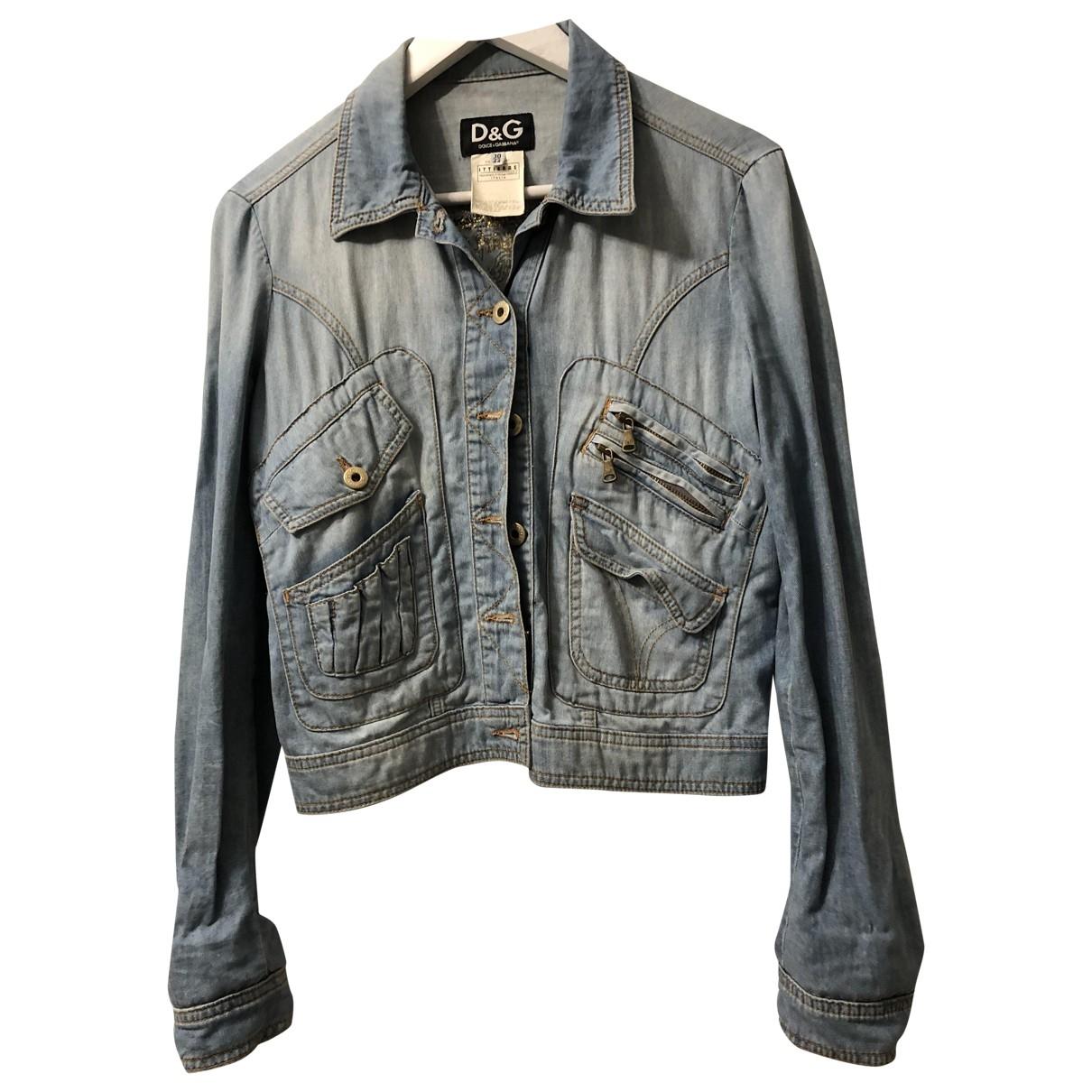 D&g \N Blue Denim - Jeans jacket for Women 44 IT