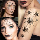10Pcs Halloween Scar Spiders And Spider Net Temporary Tattoos