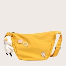 Girls Cartoon Decor Crossbody Bag