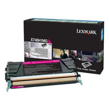 Lexmark X748H1MG cartouche de toner originale du programme retour magenta haute capacité