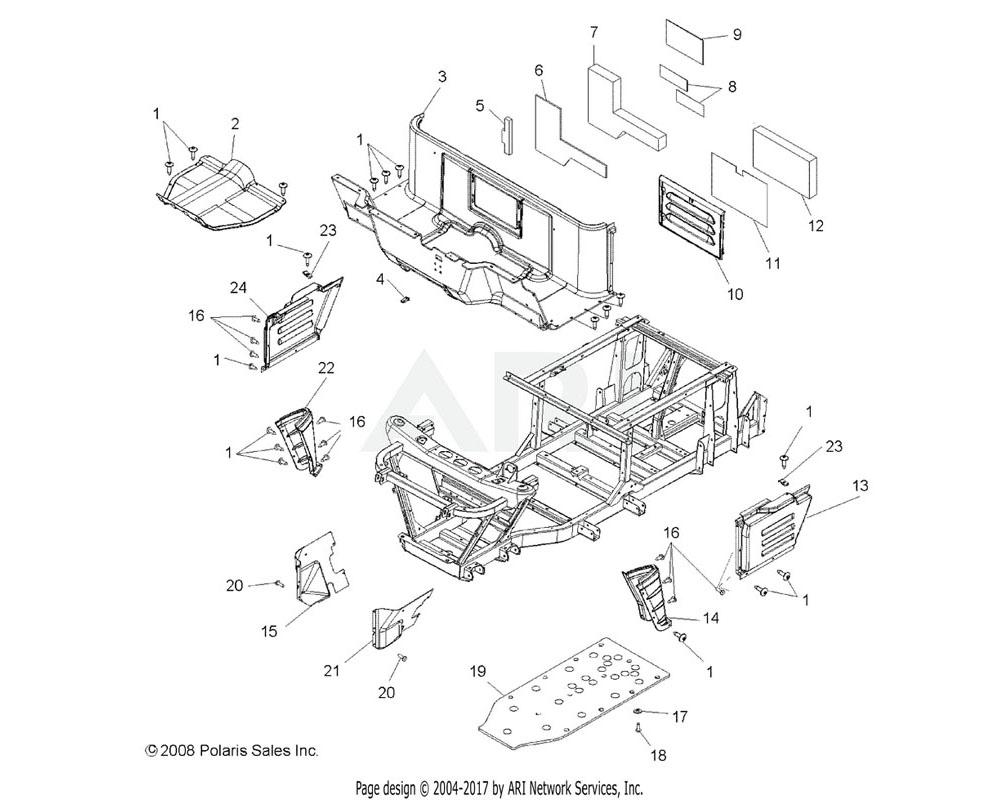 Polaris OEM 5812956 Foil, Floor, Vertical