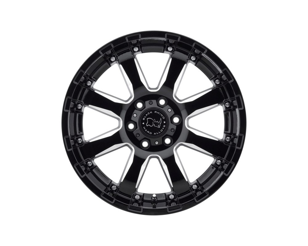 Black Rhino Sierra 20x11.5 6x139.70|6x5.5 -44mm Gloss Black w/ Milled Spokes Wheel