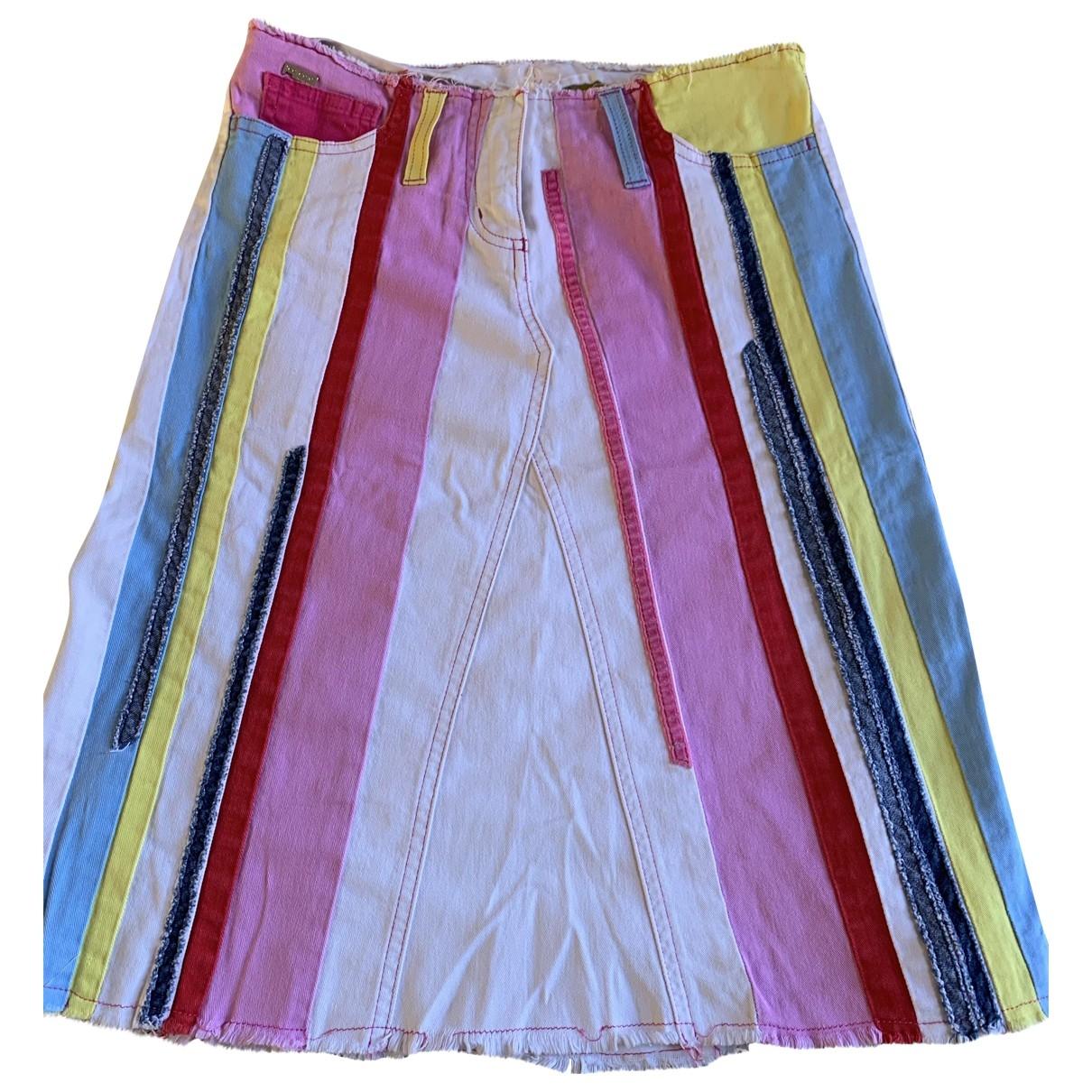 Iceberg \N Multicolour Cotton - elasthane skirt for Women 8 UK