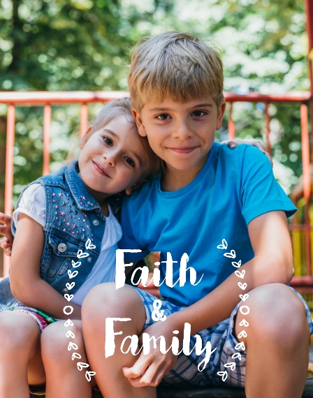 Family + Friends 11x14 Poster(s), Board, Home Décor -Faith And Family