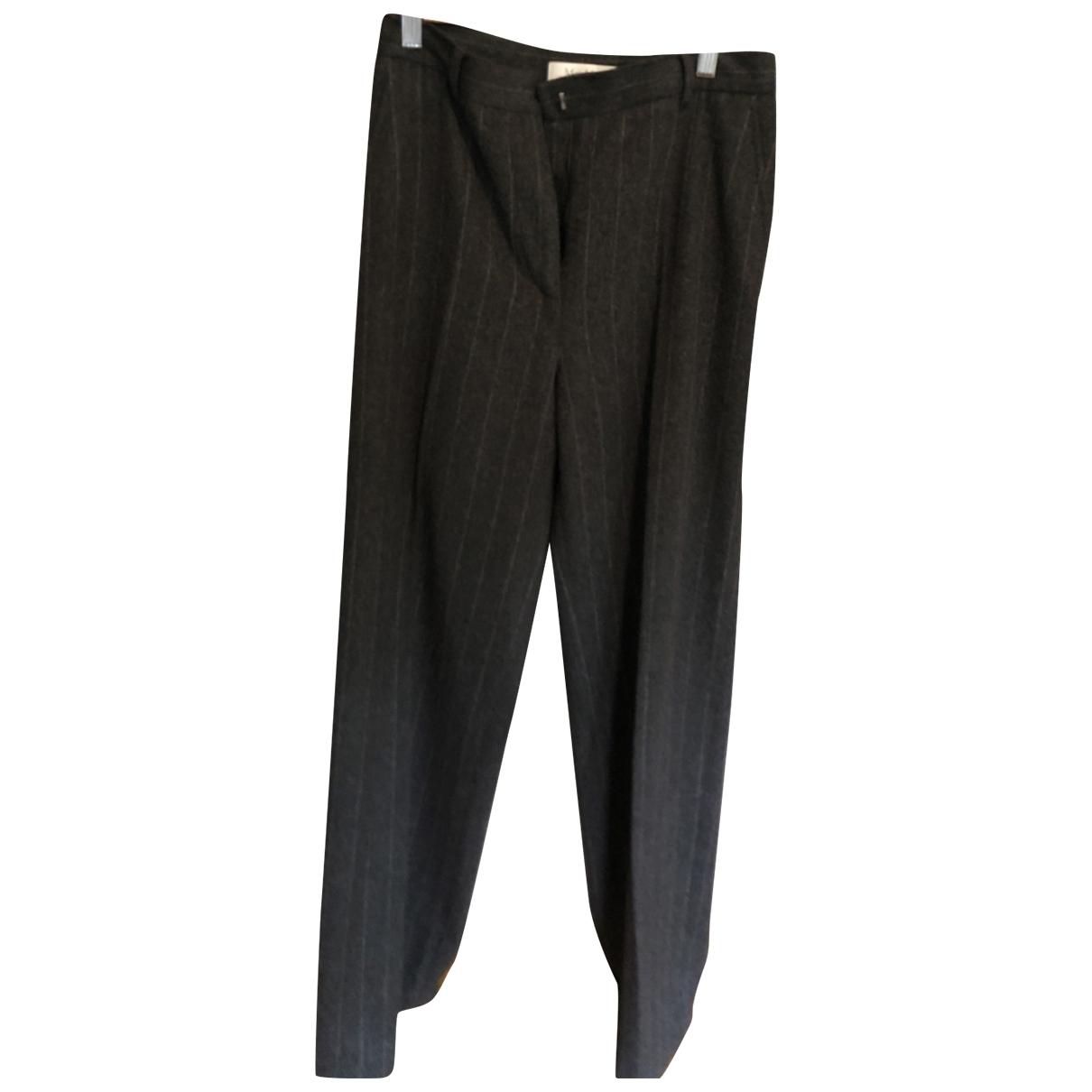 Max Mara \N Grey Wool Trousers for Women 40 FR