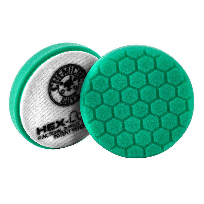 Green Hex-Logic Car Polishing Pad, 4 Inch, Used For All-In-One Product Application - Chemical Guys