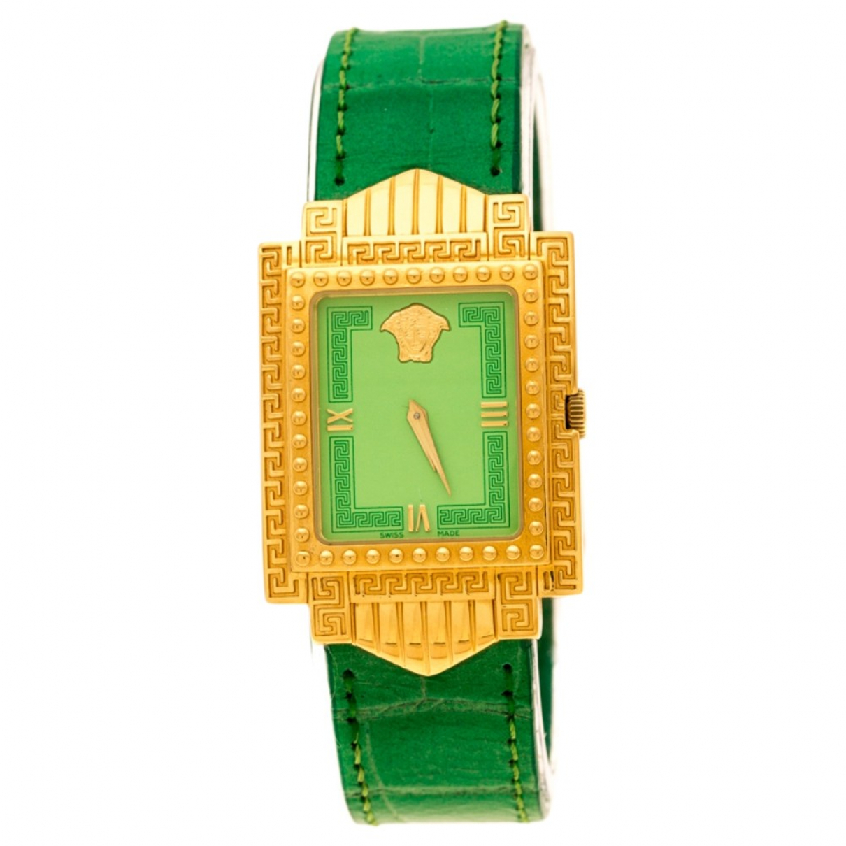 Versace \N Green Gold plated watch for Women \N