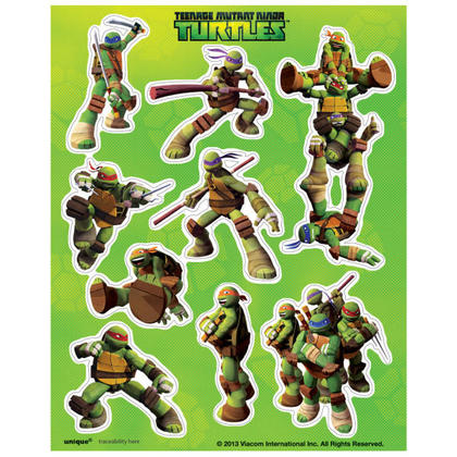 Teenage Mutant Ninja Turtles Sticker Sheets, 4ct For Birthday Party