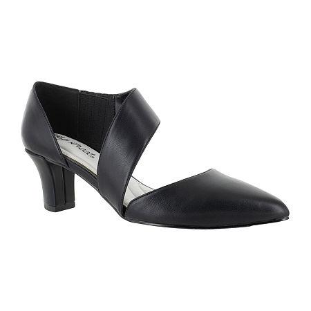 Easy Street Womens Dashing Pumps Spike Heel, 5 1/2 Medium, Black
