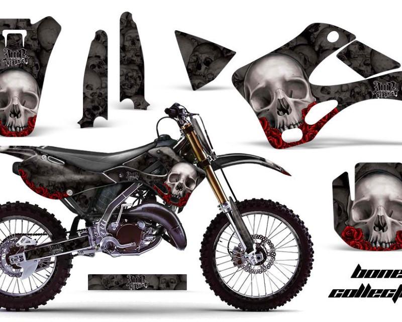 AMR Racing Graphics MX-NP-KAW-KX125-KX250-99-02-BC K Kit Decal Wrap + # Plates For Kawasaki KX125 | KX250 1999-2002áBONES BLACK