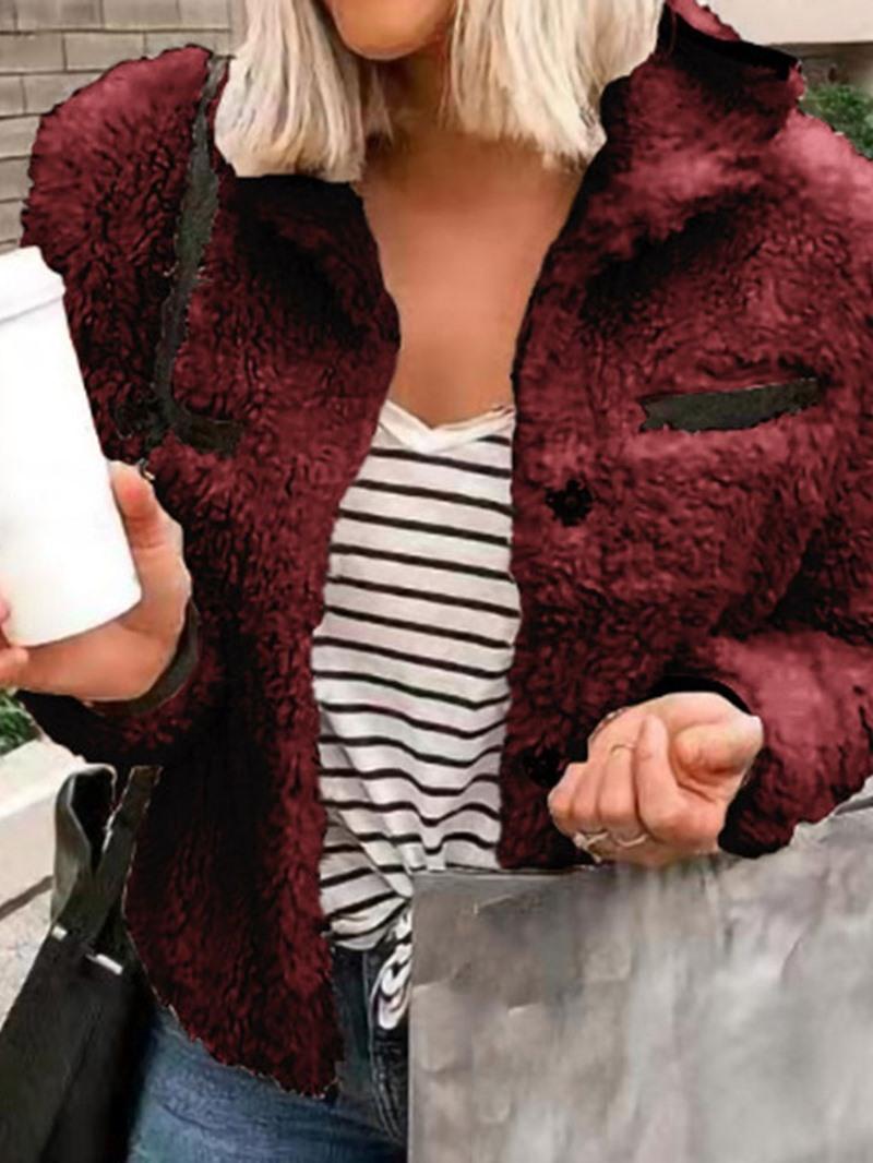 Ericdress Thick Loose Long Sleeve Standard Lapel Jacket