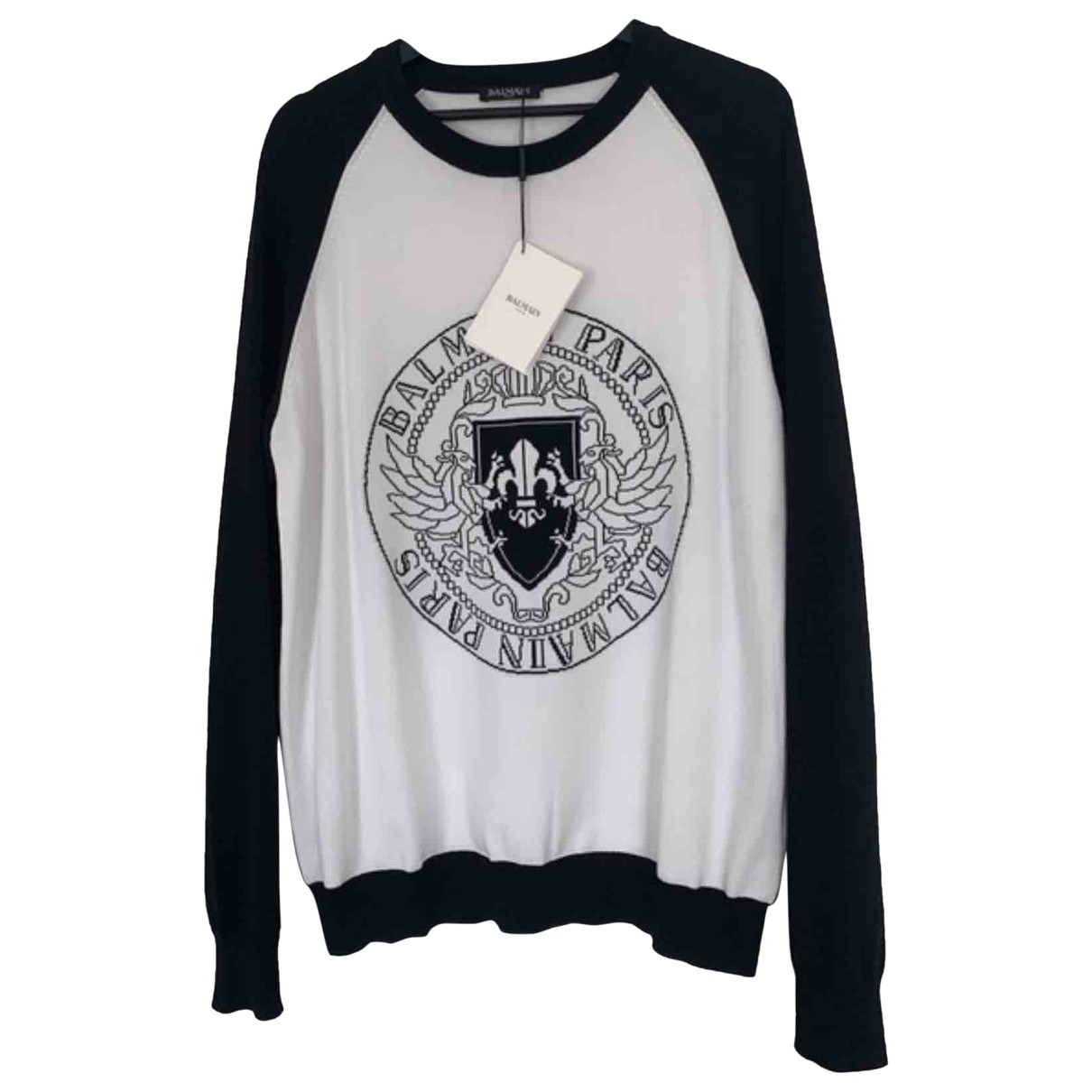 Balmain \N White Wool Knitwear & Sweatshirts for Men L International