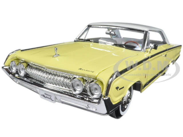 1964 Mercury Marauder Yellow with White Top 1/18 Diecast Model Car by Road Signature