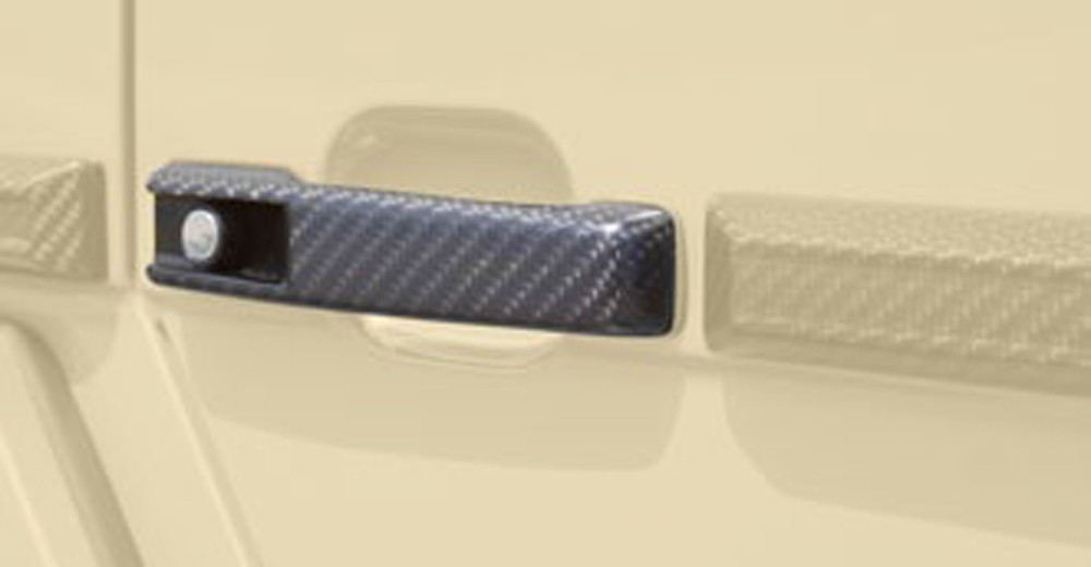 Mansory 44G 530 011 Glossy Carbon Fiber Door Handle Set Mercedes-Benz G-Class W463 99-17