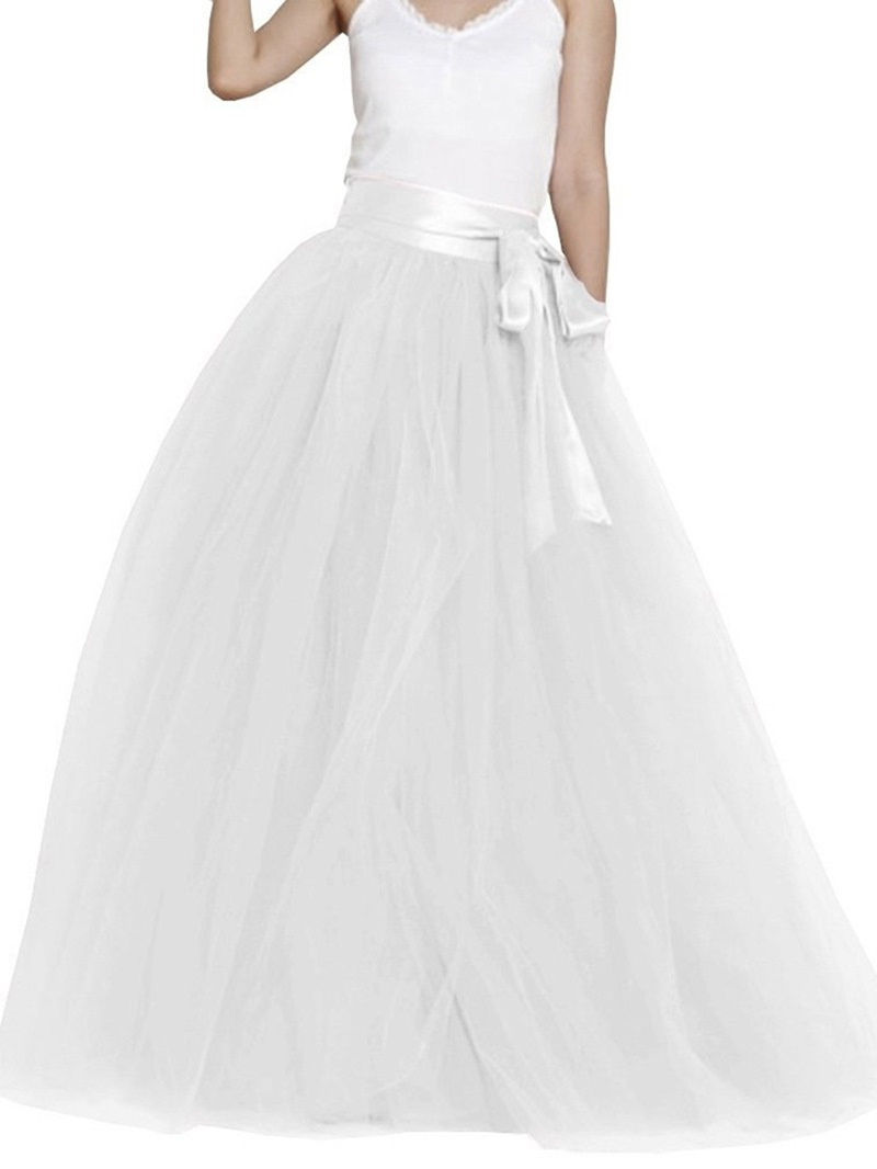 Ericdress Ball Gown Floor-Length High-Waist Women's Skirt