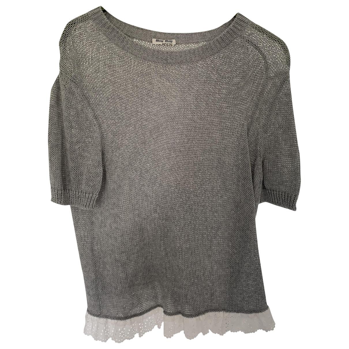 Miu Miu \N Grey Cotton  top for Women 38 IT