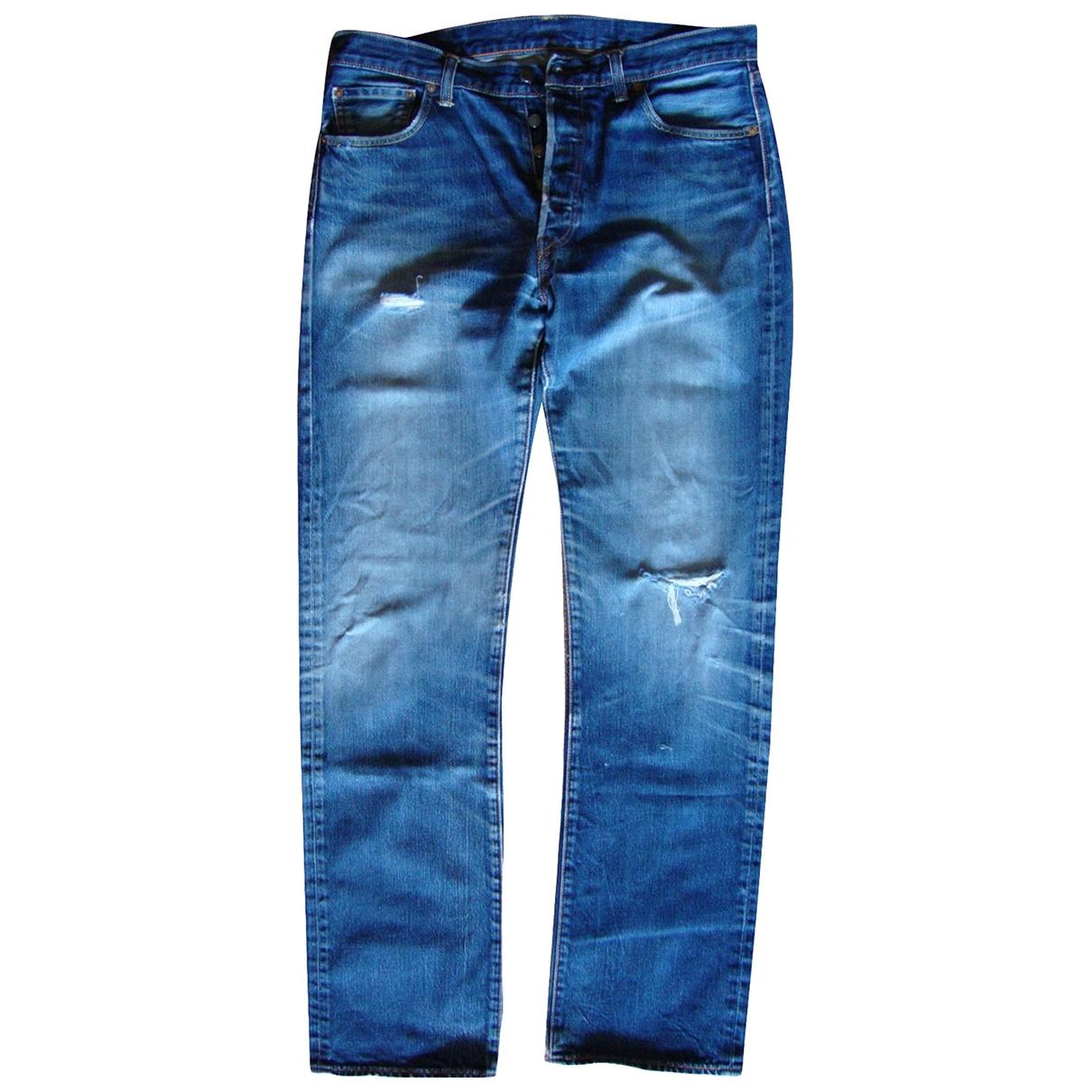 Levi's 501 Blue Cotton Jeans for Men 36 US