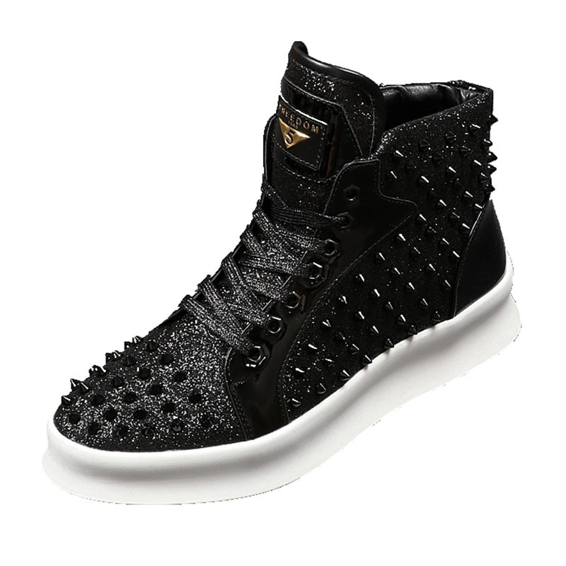 Ericdress Rivet Round Toe Plain Men's Sneakers