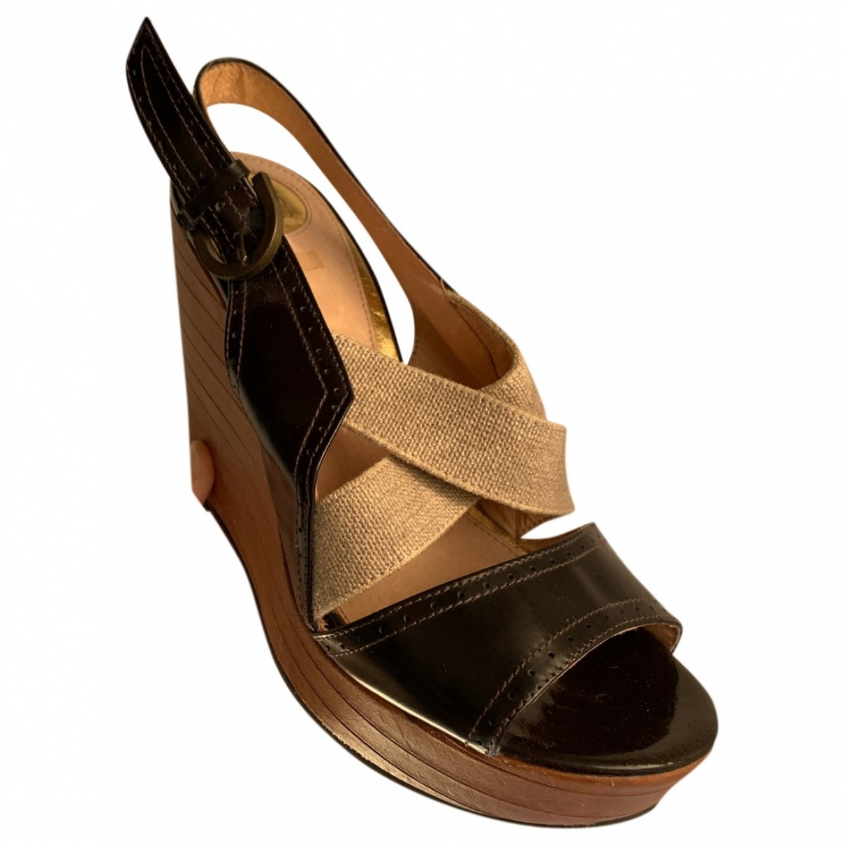 Non Signé / Unsigned \N Brown Rubber Mules & Clogs for Women 38 EU