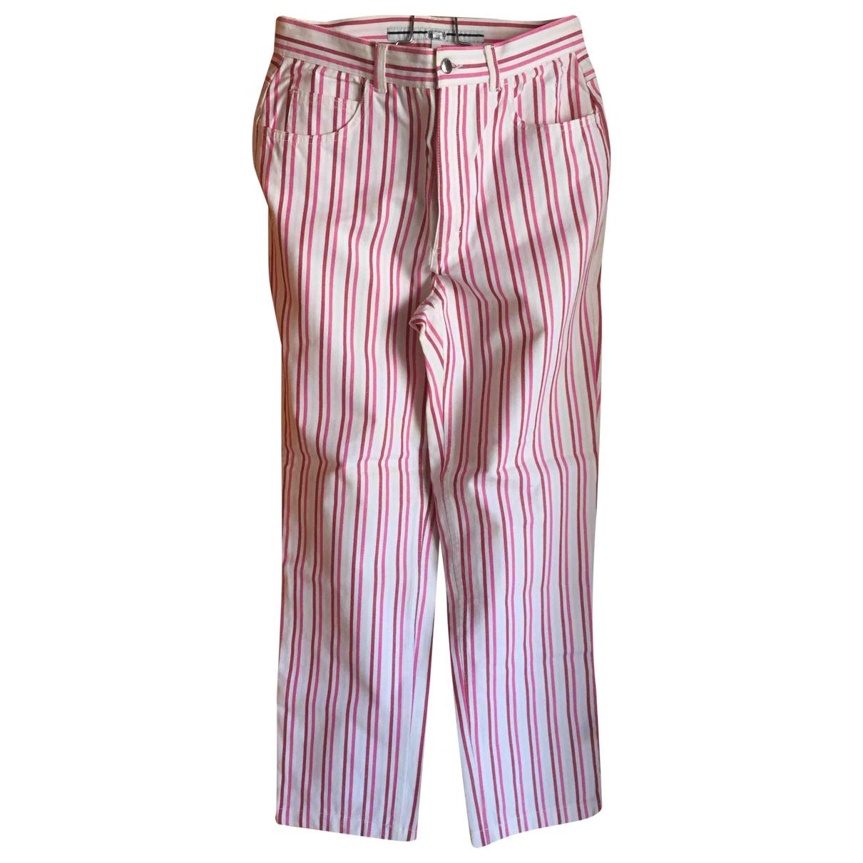 Escada \N White Cotton - elasthane Jeans for Women 38 FR