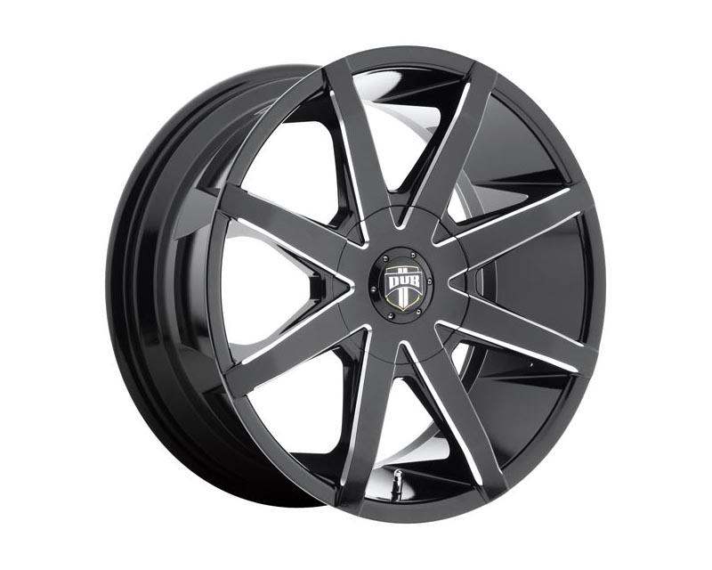 DUB S109 Push Wheel 20x8.50 Blank 35 Gloss Black Milled