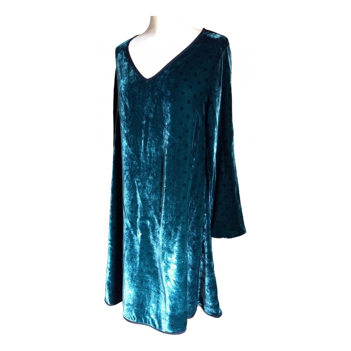 Ottod'ame \N Green Velvet dress for Women 38 FR