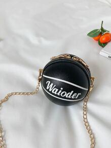 Mini Basketball Chain Crossbody Bag