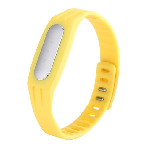 New Replaceable TPE Strap for Xiaomi Miband / 1S Mi Bracelets - Yellow