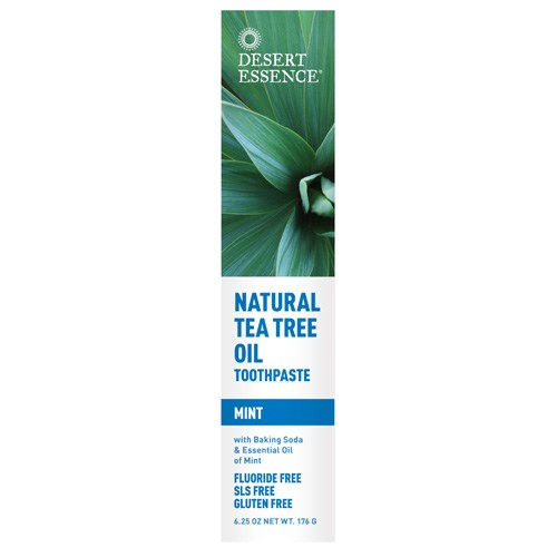 Tea Tree Oil Toothpaste WITH MINT, 6.25 oz by Desert Essence