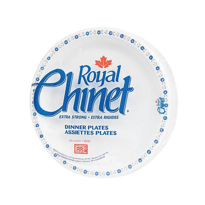 Royal Chinet@ jetables diner assiettes, 10-3/8