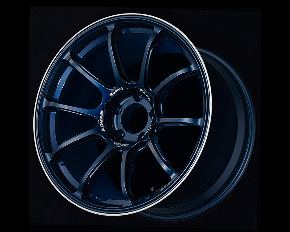 Advan RZ-F2 Wheel 18x9.5 5x114.3 44mm Racing Titanium Blue & Ring