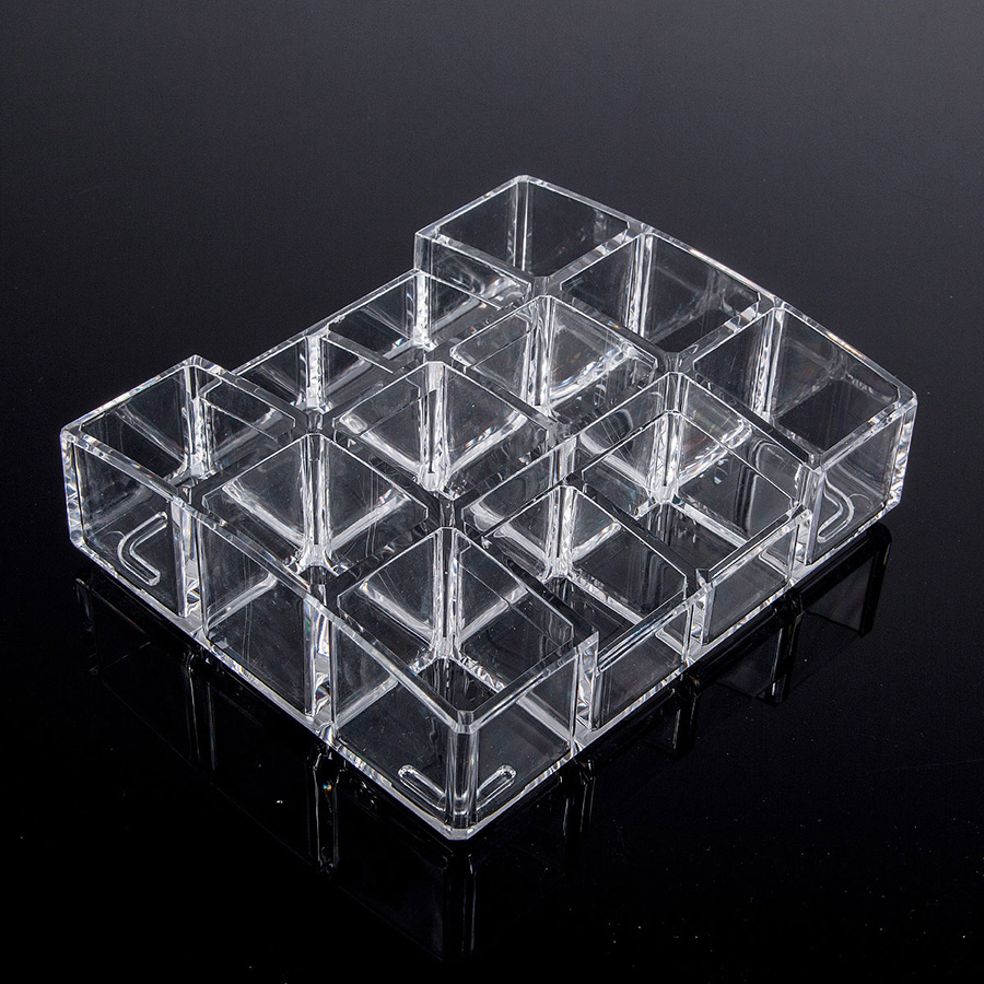 Environment Friendly Acrylic Material 14.2*12.2*3.8cm Cosmetic Storage Box