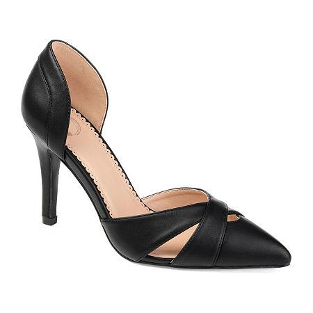 Journee Collection Womens Dora Pumps Block Heel, 6 Medium, Black