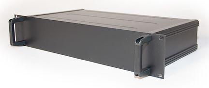 RS PRO , 1U Rack Mount Case, 245 x 425 x 39.6mm, Black
